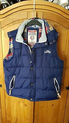 Tokoyo Laundry Gillet Blue Extra Large bodywarmer Vgc UK Seller