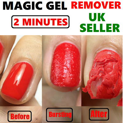 2 Minutes Nail Gel Magic Remover BURST Soak Off Acrylic Clean Degreaser UK STOCK