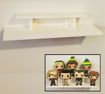 12 inch - White Funko Pop! Display Wall Shelf - Holds Up to 7 Pops On 2 Levels