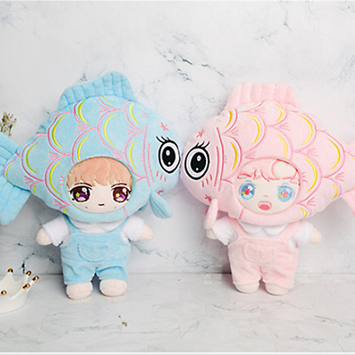 KPOP NCT SHINEE EXO BTS Doll's Clothes Koi Headgear +Tshirt +Rompers【no doll】