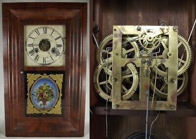 antique SETH THOMAS OGEE CLOCK OG Shelf Mantel walnut PLYMOUTH HOLLOW works!
