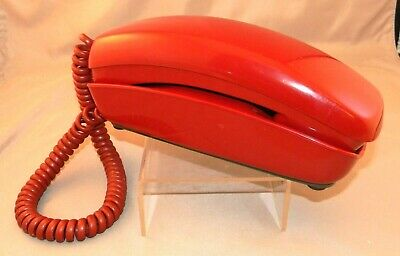 Vintage Bell System PRINCESS Trimline Push Button Red Western Electric Telephone