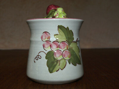 vintage Metlox California Orchard Sugar Bowl pottery dinnerware excl condition