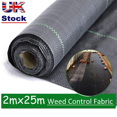 Heavy Duty Weed Control Fabric 4m 100gsm Ground Cover Membrane Garden landscape