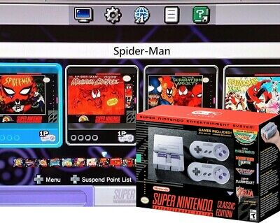 Nintendo SNES Classic Edition loaded 282 games + 8 YOU CHOOSE PRO MODDED HACKED