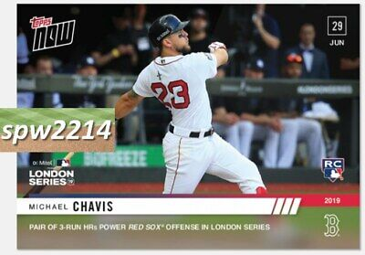 2019 Topps Now Michael Chavis #451 HRs Power Red Sox in London Series