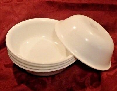 """Corelle Corning WINTER FROST WHITE Set of 5 Soup Cereal Bowls 6 1/4"""""""