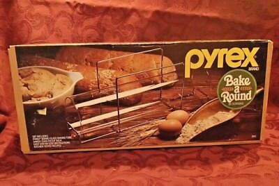 Pyrex Vtg Bake A Round Bread Glass Baking Tube Corning Culinaria NOS in box