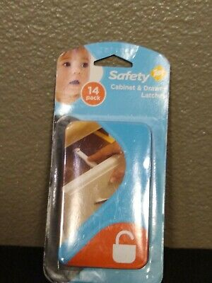 Safety 1st brand child resistant Cabinet & Drawer Latches (14pk) easy to install