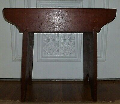 Vintage Mission Craftsman Era Shaker Style Solid Wood Bench