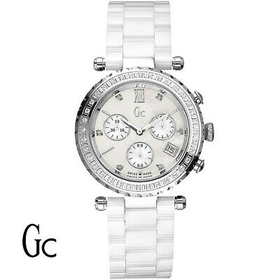 965286909 Guess Collection I01500M1 Diver Chic Diamond Gc Chronograph Women's Watch  NEW