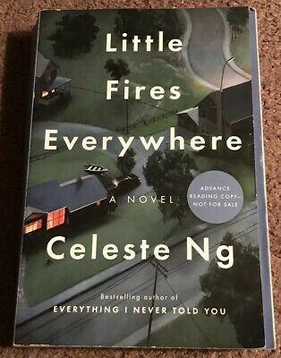 SIGNED ARC/PROOF Little Fires Everywhere by Celeste Ng Autographed Book RARE