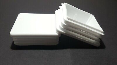 Square White Plastic Blanking End Caps Tube Pipe Inserts Plug Bung