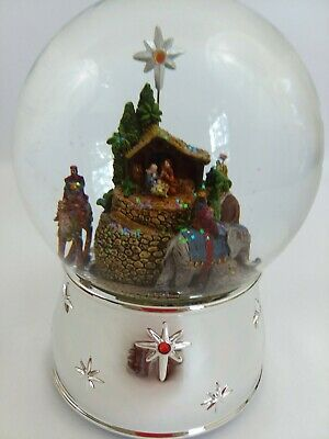 Reed & Barton Three Kings Snowglobe Musical Snow Globe Excellent