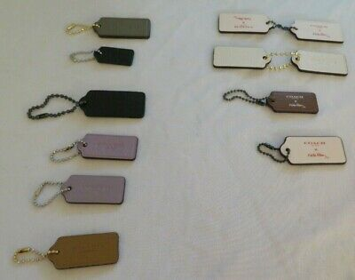 Coach Leather Key chain Key Ring Hangtag Bag Charm Fob, Assorted sizes & colors