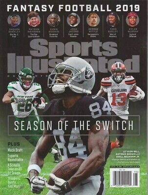 NEW Sports Illustrated Fantasy Football 2019 Draft Guide Magazine Antonio Brown