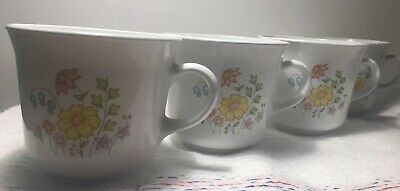 Corelle by Corning U.S.A (Meadow Design) ~ Cups: Set of 4