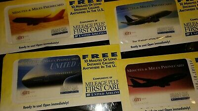 Prepaid Phone Cards GTI United Airlines Collector Series