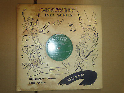 "33RPM 10"" Discovery Jazz Series DL 2009  Roy Eldridge and Zoot Sims nice V to V+"