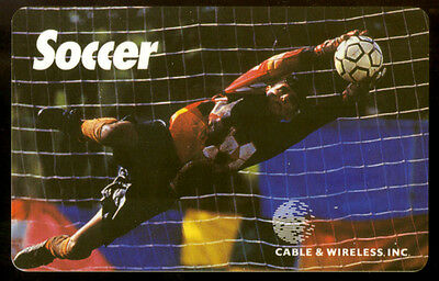 1996 Sts Limited Edition $5.00 Soccer Phone Card Unscratched Free Shipping