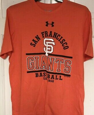 separation shoes 02d68 d0634 Under Armour Heat Gear San Francisco Giants MLB Tshirt, men s L, Orange