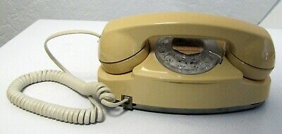 """Vtg Yellow """"Princess"""" Rotary Phone 1970's? Western Electric/Bell/AT&T EUC Works"""