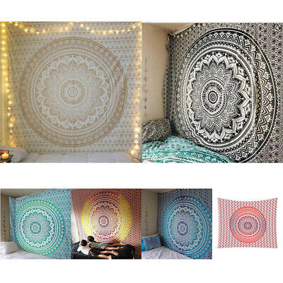 Indian Tapestry Hippie Mandala Wall Hanging Bohemian Bedspread Throw Home Decor