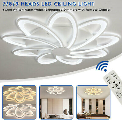 Acrylic Remote Control Modern LED Lamp Ceiling Light For Living Room Bedroom