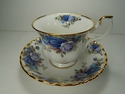 Royal Albert Moonlight Rose Cup and Saucer. VGC. 1987 Bone China. England.