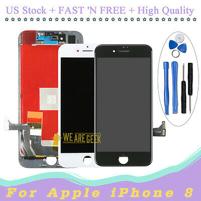 LCD Display For iPhone 8 4.7'' Black Touch Screen Digitizer Assembly Replacement