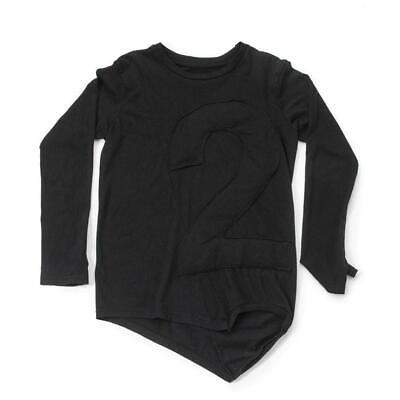 Nununu 4-5Y Black Long Sleeve T-Shirt With Puffy Number Patch100% Cotton