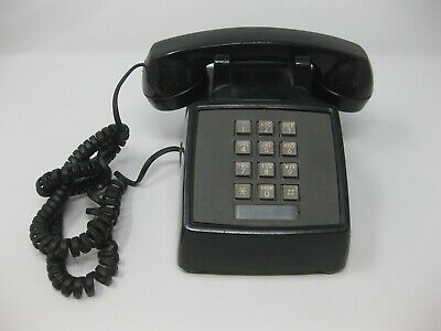 VINTAGE Black Telephone Bell System Property of Ohio Bell Push Button