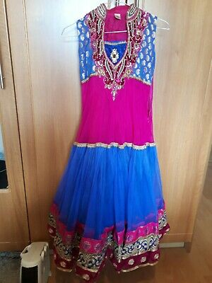Girls indian traditional bollywood outfit anarkali dress 9-11 lengha