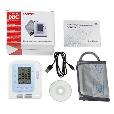 FDA CONTEC Digital Blood Pressure Monitor Sphygmomanometer CONTEC08C PC Software