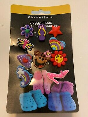 10 Piece Crocs Shoe Plug Charms Slippers Accessories Button Wristbands New