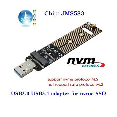 NVME M-key M.2 SSD External PCBA Adapter with Flash Disk Case GL to USB 3.0
