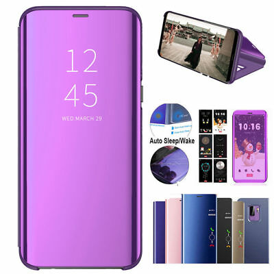 Luxury Mirror Clear View For Huawei Y6 Prime 2018/Nova 3i Flip Wallet Case Cover