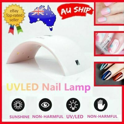 SUN9C 24W LED UV Nail Lamp Gel Polish Dryer Curing Lamp Auto Timer AU Plug