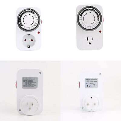 24 Hours Digital Countdown Timer Socket Mechanical Time Wall EU/US Plug Switch