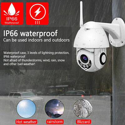 Wireless 720P/1080P WIFI IP Camera WHITE In/Outdoor CCTV HD Home Security IR Cam