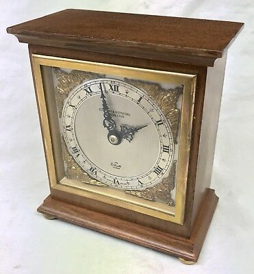 ELLIOTT LONDON Walnut Bracket Mantel Clock OLLIVANT & BOTSFORD MACHESTER