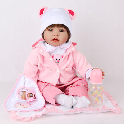 22''Girl Reborn Baby Dolls Vinyl Silicone Realistic New Arrival Newborn Doll Toy