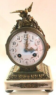 Antique French Bronze Ormolu Drum Clock