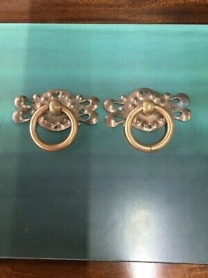 Two Arts & Craft Copper Draw / Cupboard Handles