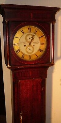 "Antique Oak  "" Broughton  Ferry  ""  8 Day     Longcase / Grandfather Clock"