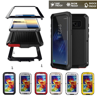 HEAVY DUTY Shockproof Bumper Aluminum Metal Cover Case for Samsung S6 S7 S8 UI