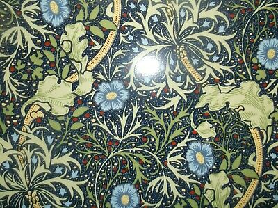 Arts and Crafts William Morris Seaweed Fireplace Stovax Tiles, 12, Brand New