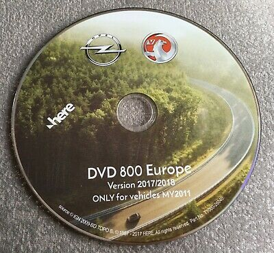 2018 Opel Vauxhall Dvd800 & Cd500 Sat Nav Disc Map Update Disc Europe My2011