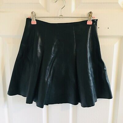 Black Faux Leather River Island Skirt Age 11 Years 146cm 10/11 11/12 (2064)
