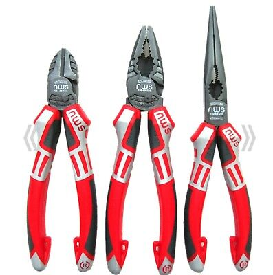 NWS Heavy Duty 3 Piece Classic All Round Plier Set Made In Germany Trade Quality